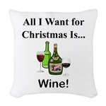 Christmas Wine Woven Throw Pillow