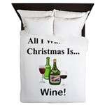 Christmas Wine Queen Duvet