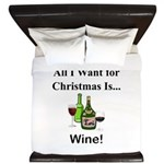 Christmas Wine King Duvet