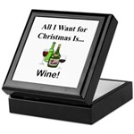 Christmas Wine Keepsake Box