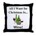 Christmas Wine Throw Pillow