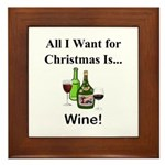 Christmas Wine Framed Tile