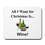 Christmas Wine Mousepad