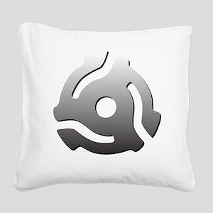 I 45 RPM Adapt Music Square Canvas Pillow