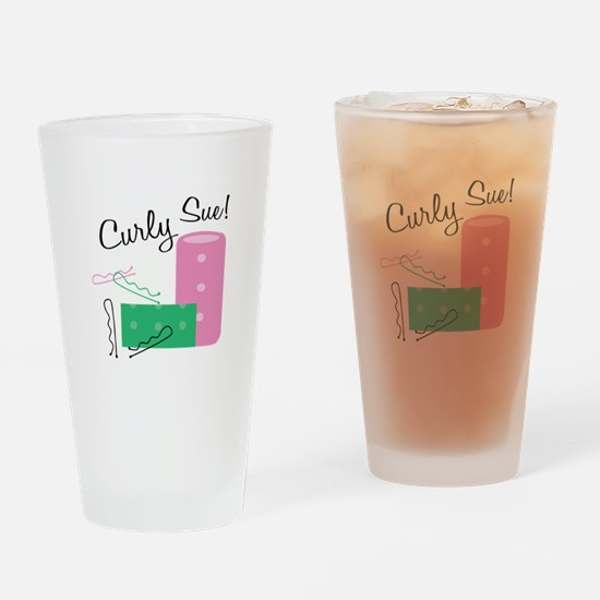 Curly Sue Drinking Glass