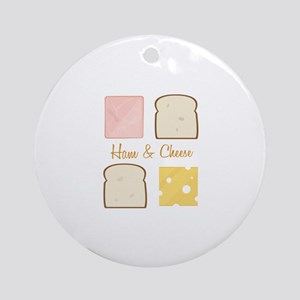 Ham & Cheese Ornament (Round)