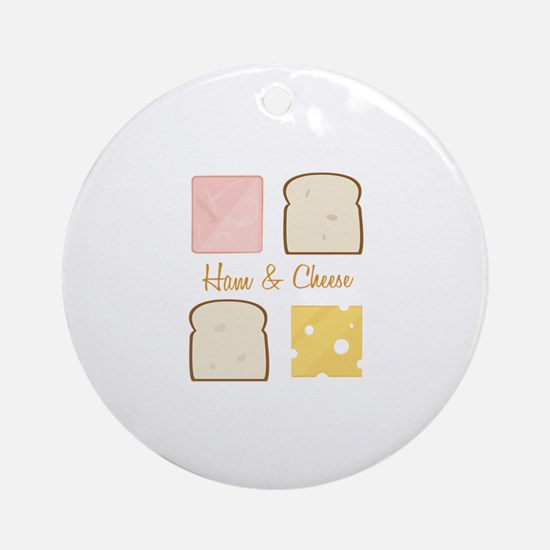 Ham & Cheese Ornament (Round)