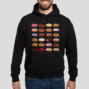 Many Donuts Hoodie (dark)