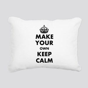 Make Your Own Keep Calm Rectangular Canvas Pillow