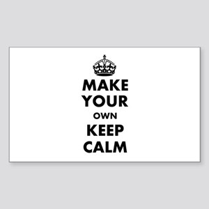 Make Your Own Keep Calm and Ca Sticker (Rectangle)