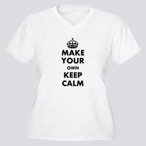 Make Your Own Kee Women's Plus Size V-Neck T-Shirt