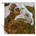 Taneycomo Sculpin in thin water Shower Curtain