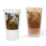 Taneycomo Sculpin in thin water Drinking Glass