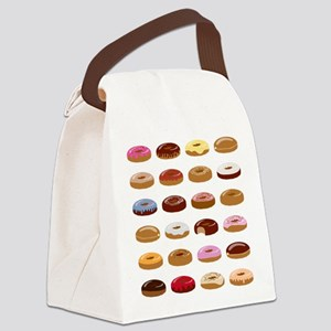 Many Donuts Canvas Lunch Bag