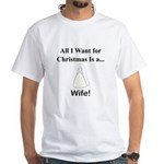 Christmas Wife White T-Shirt
