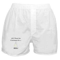 Christmas Wife Boxer Shorts