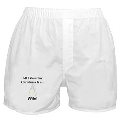 Christmas Wife Boxer Shorts