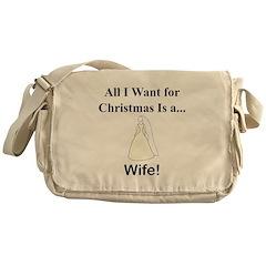 Christmas Wife Messenger Bag