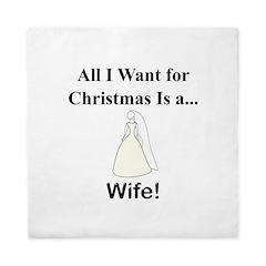 Christmas Wife Queen Duvet
