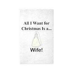 Christmas Wife 3'x5' Area Rug