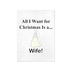 Christmas Wife 5'x7'Area Rug