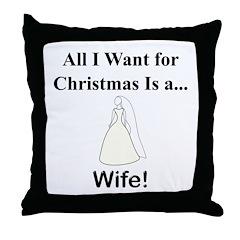 Christmas Wife Throw Pillow