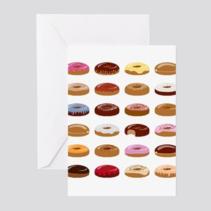 Many Donuts Greeting Cards