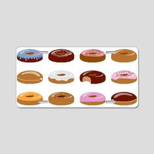 Many Donuts Aluminum License Plate