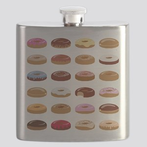 Many Donuts Flask
