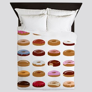 Many Donuts Queen Duvet