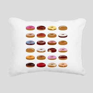 Many Donuts Rectangular Canvas Pillow