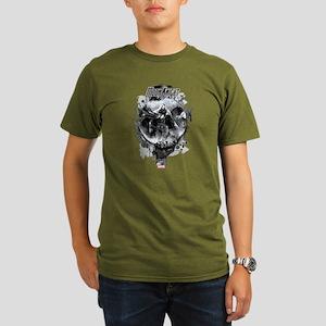 Moon Knight Grunge Organic Men's T-Shirt (dark)