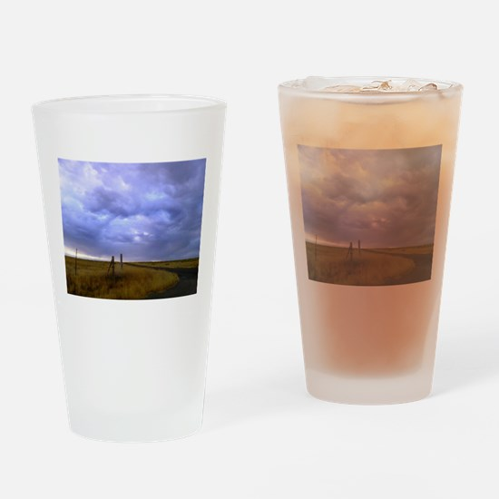 country road.jpg Drinking Glass