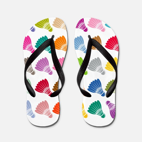 Colorful BadmintonShuttles Flip Flops
