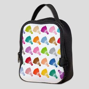 Colorful BadmintonShuttles Neoprene Lunch Bag