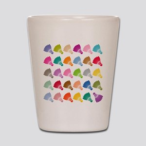 Colorful BadmintonShuttles Shot Glass