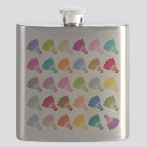 Colorful BadmintonShuttles Flask