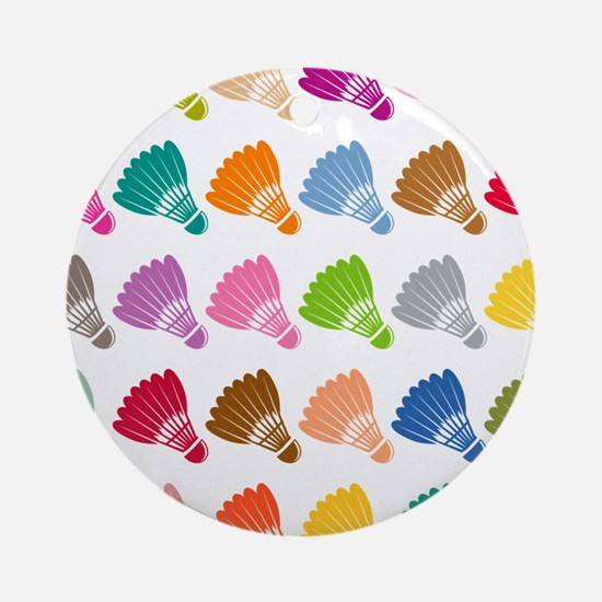 Colorful BadmintonShuttles Ornament (Round)