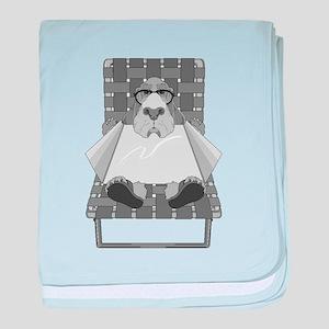 Dog Sunning baby blanket