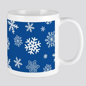 Snowflakes Blue Background Mug