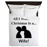 Christmas Wife Queen Duvet