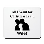 Christmas Wife Mousepad