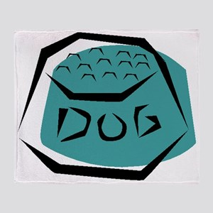 Dog Dish Throw Blanket