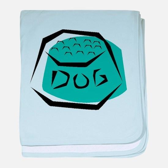 Dog Dish baby blanket