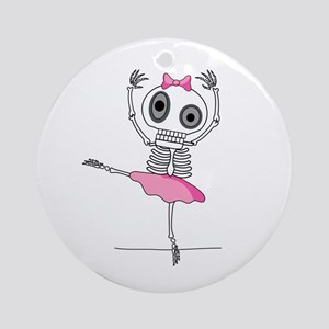 cute-skeleton-ballerina.png Ornament (Round)