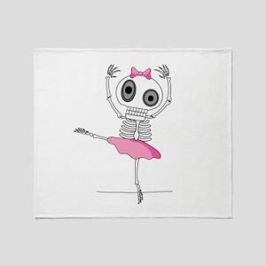 cute-skeleton-ballerina.png Throw Blanket