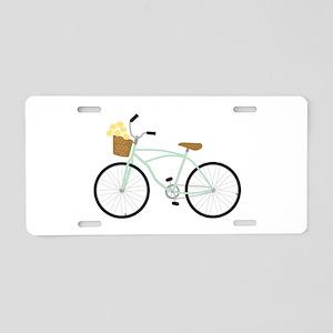 Bicycle Flower Basket Aluminum License Plate