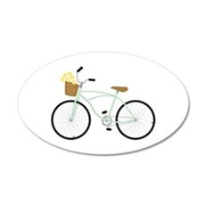 Bicycle Flower Basket Wall Decal