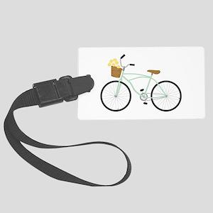 Bicycle Flower Basket Luggage Tag