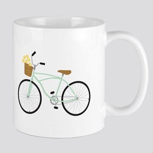 Bicycle Flower Basket Mugs